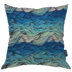 18x18 inch Beach wave pillow covers (2)